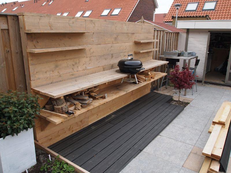 Buitenkeuken Van Steigerhout : Buitenkeuken steigerhout